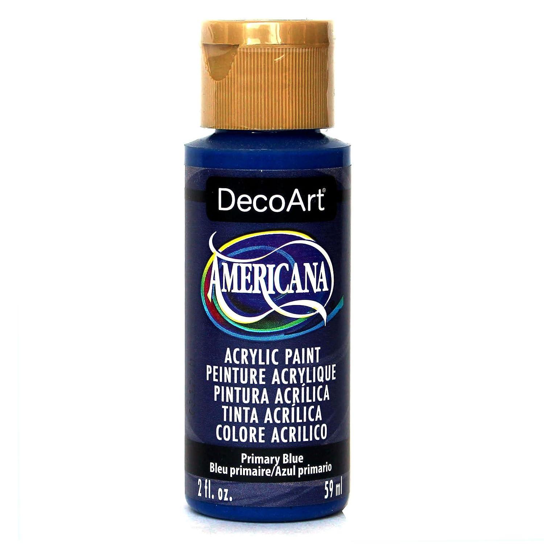DecoArt Americana Acrylic Paint, 2-Ounce, Primary Blue DA200-3