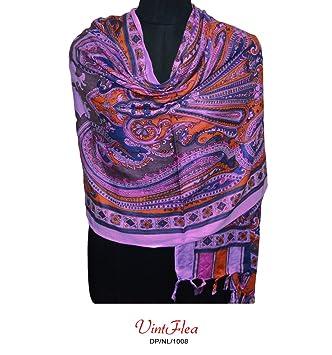 sari púrpura largo pañuelo indio robó tejido artesanal cuello abrigo de la bufanda mujeres decoración del ...
