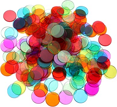 Toyvian Fichas de conteo de Bingo Transparentes fichas de Bingo ...