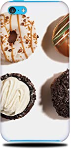 FOXSTA Cover Designs Dessert Donuts Doughnuts Food Phone Case Hard Back Cover for Apple iPhone 5C