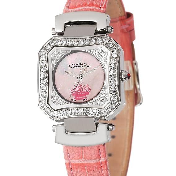 Auca 61 By Salvador Dali Swiss Made DCA005ZPA - Reloj de mujer de cuarzo, correa de piel color rosa: Amazon.es: Relojes