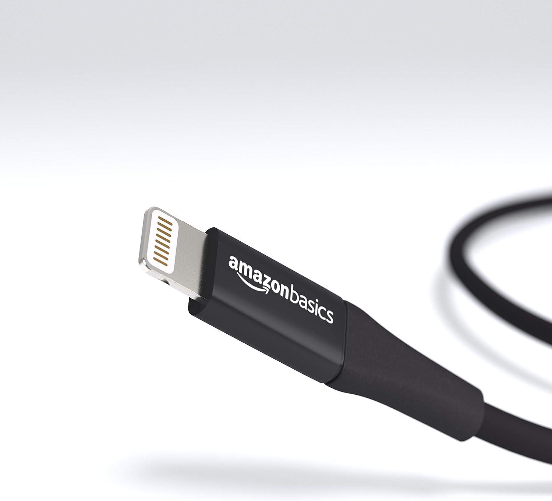10 cm 1er-Pack Lightning-auf-USB-A-Kabel Silber Premium-Kollektion Basics