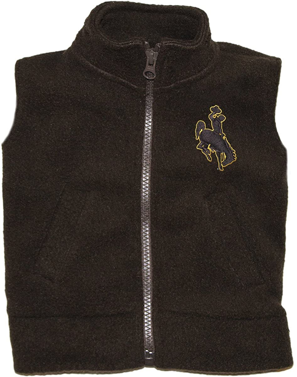 Creative Knitwear University of Wyoming Cowboys Baby and Toddler Polar Fleece Vest
