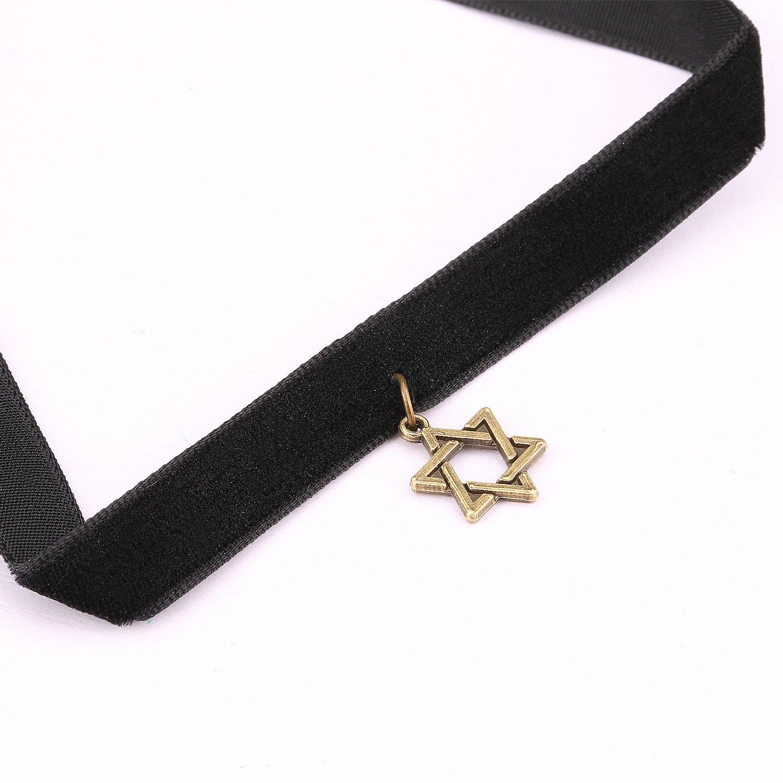 Choker Necklace,UHIBROS Black Velvet Choker with Star Pendant Fashion Jewelry for Women