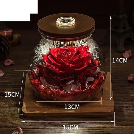 Weihnachtsgeschenke Haushalt.Ewige Blume Geschenk Glaskasten Diy Rose Blumenornamente Kreative
