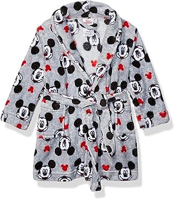 Gray Robe Mickey Mouse Toddler Boys Minky Fleece Bathrobe