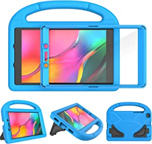 TIRIN Kids Case for Samsung Galaxy Tab A 8.0 2019 Without S Pen Model(SM-T290/SM-T295), Built-in Screen Protector Shockproof Light Weight Handle Stand Case for Galaxy Tab A 8.0 Inch 2019 - Blue