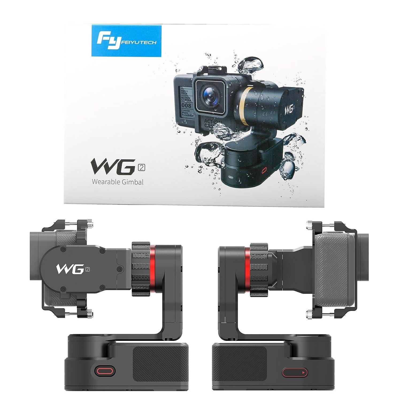 FeiyuTech WG2 Gimble port/átil Resistente al Agua de 3 Ejes Gimbal de Video port/átil de Manos Libres fotograf/ía en Movimiento al Aire Libre,Deportes de acci/ón y Actividades acu/áticas