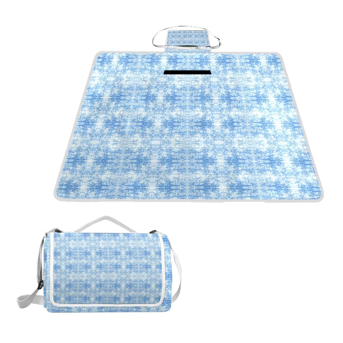 LOIGEIDQ Picnic mat Rchambray Light Waterproof Outdoor Picnic Blanket, Sandproof and Waterproof Picnic Blanket Tote for Camping Hiking Grass Travelling DualLayers
