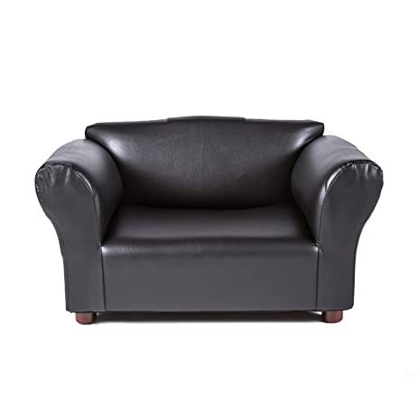 Mini Sofa Black Leatherette Pet Bed  sc 1 st  Amazon.com : pet chaise - Sectionals, Sofas & Couches