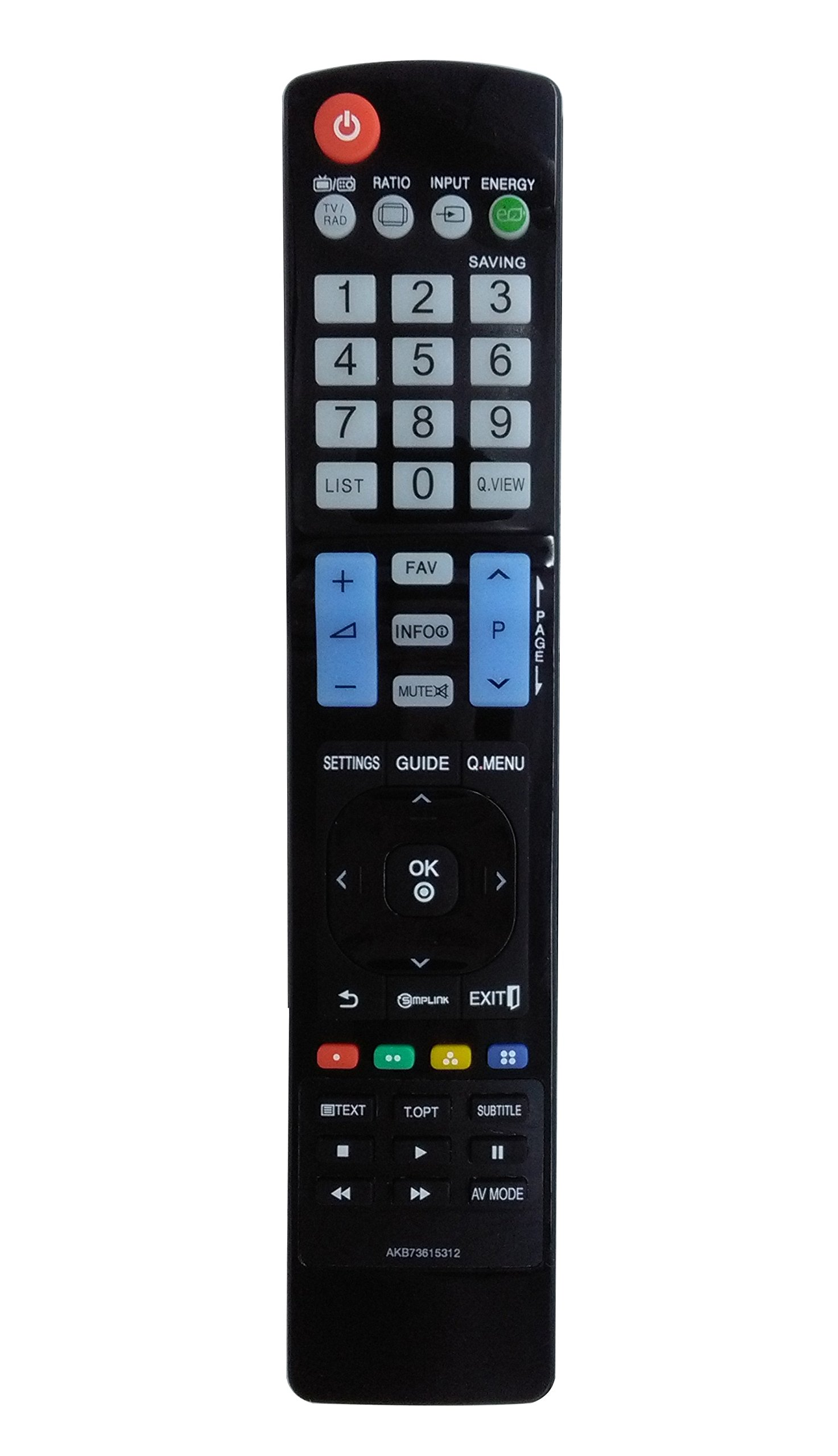 New Vinabty AKB73615312 Replaced Remote Controller fit for LG TV 47LS4600 50PA4500 50PA6500 60PA6500 32LS4600 42LS4600 Sub AKB74115502 AKB72914216