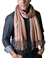 Anika Dali Men's Timeless Classic City Slim Stripe Scarf with Tassels (2 Colors)
