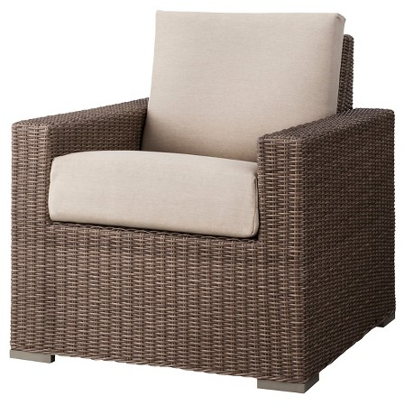 Heatherstone Wicker Patio Club Chair - Threshold