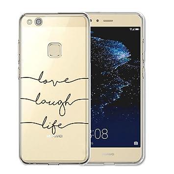 Huawei P10 Lite Funda , TUTUWEN Transparente Silicona TPU de Flexibilidad Carcasa Case Bumper Ultra Delgado Espalda Case Cover para Huawei P10 Lite