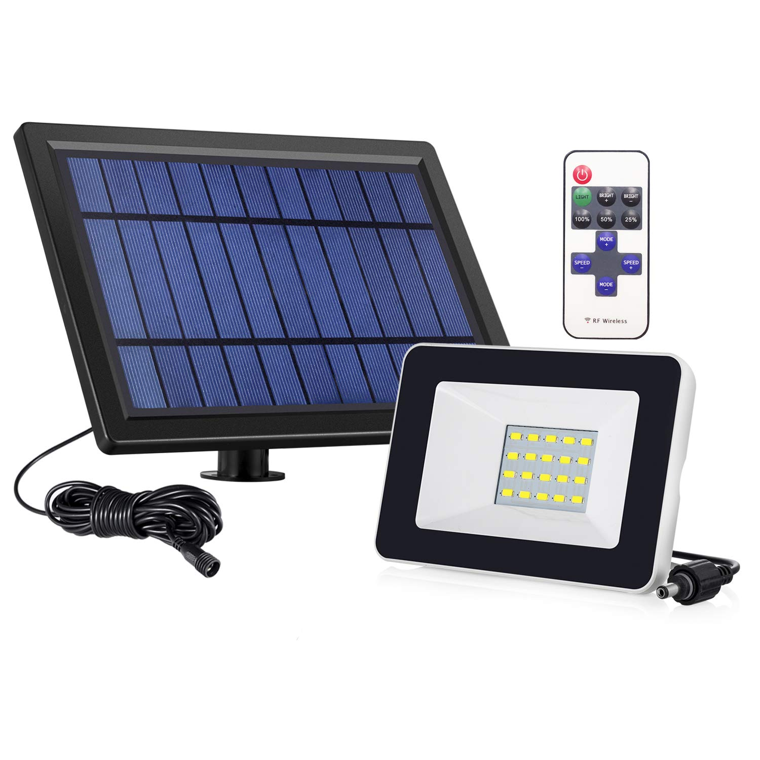 Solar Lights,Asucway Super Bright 20 LED Waterproof Solar Flood light,with IR Remote Controls Security Lights Outdoor Lighting for Patio Deck Yard Garden Driveway Pool Area Driveway Pool Area