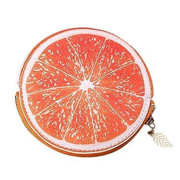 Koolee Lemon - Monedero de piel sintética para mujer, diseño ...