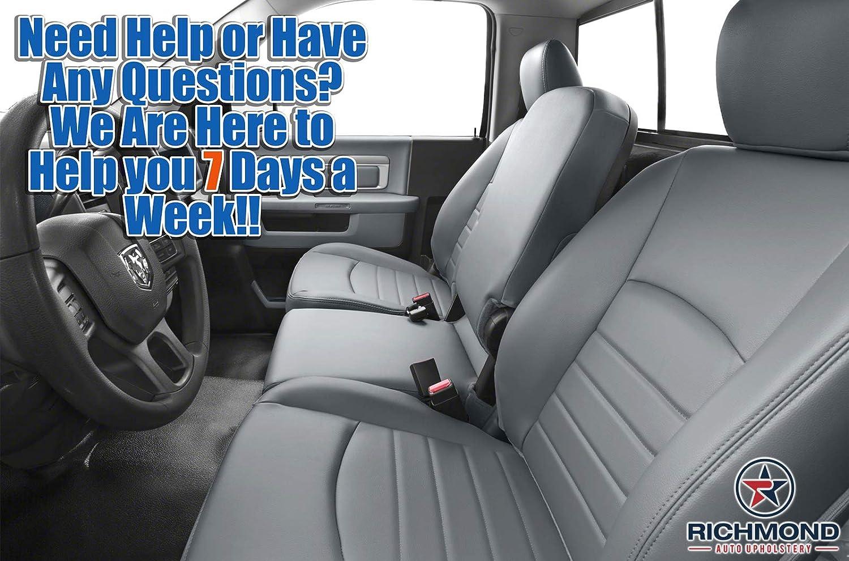 2013 Dodge Ram SLT Extended Cab Driver Side Bottom Vinyl Seat Cover 2 Tone Gray
