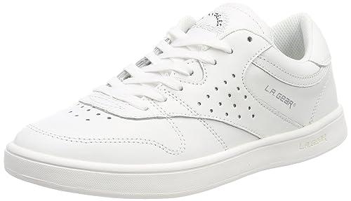 L.A. Gear Lily, Sneaker Donna, Bianco (Wht-Soft Verginia Leather 03), 38 EU