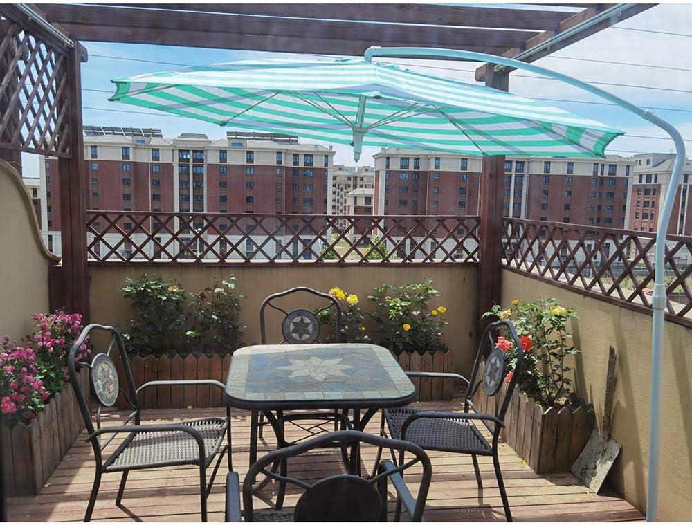 LDFZ Sombrilla Compacta De 2, 1 M De Diámetro Sombrilla Redonda con Terraza En Voladizo Manivela De Jardín Toldo De Protección Solar Al Aire Libre, Rotación De 360: Amazon.es: Jardín