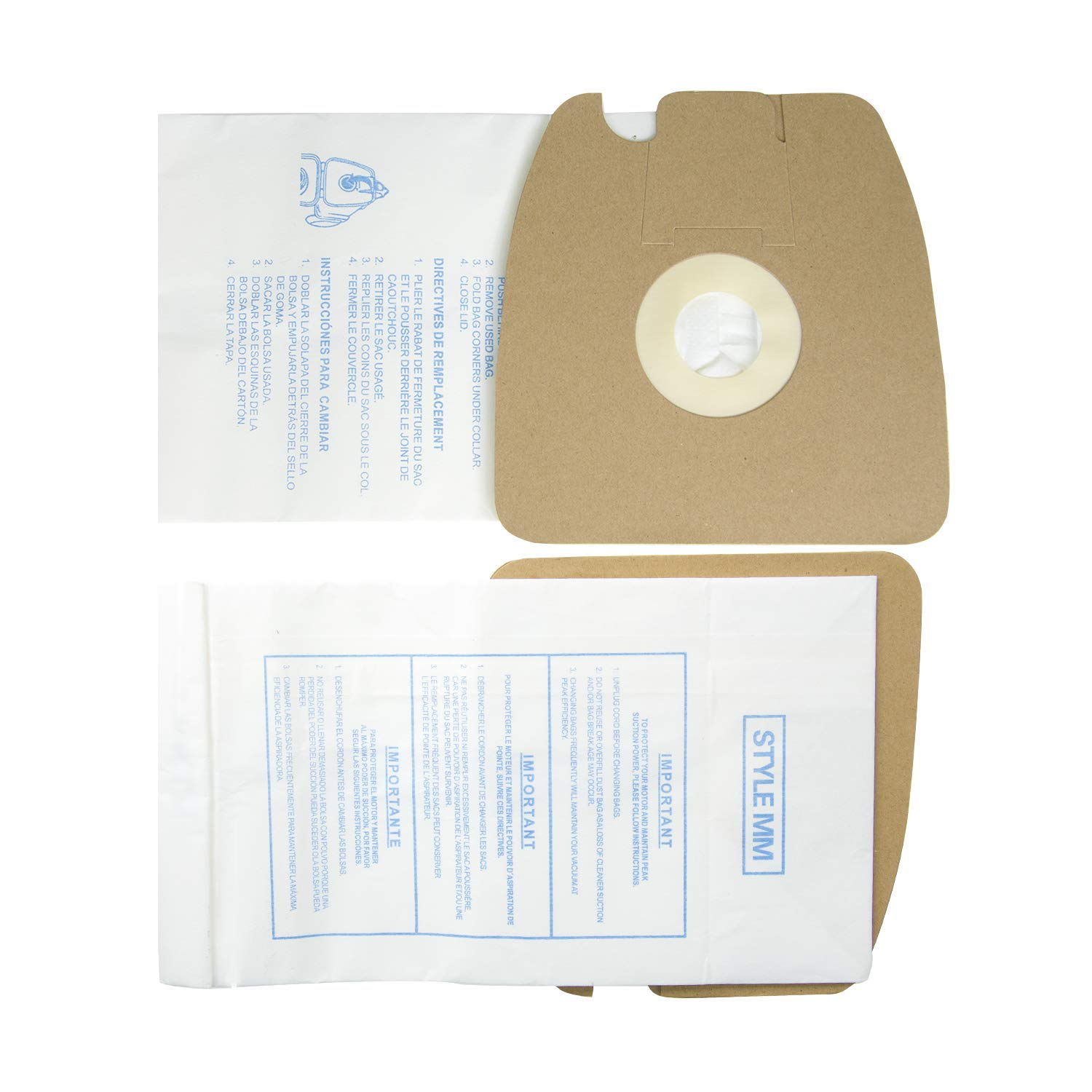Yours 20Pcs Replacement for Eureka 3670 & 3680 MM Vacuum Bags,and Replacement Vacuum Bags Part # 60295, 60296, 60297