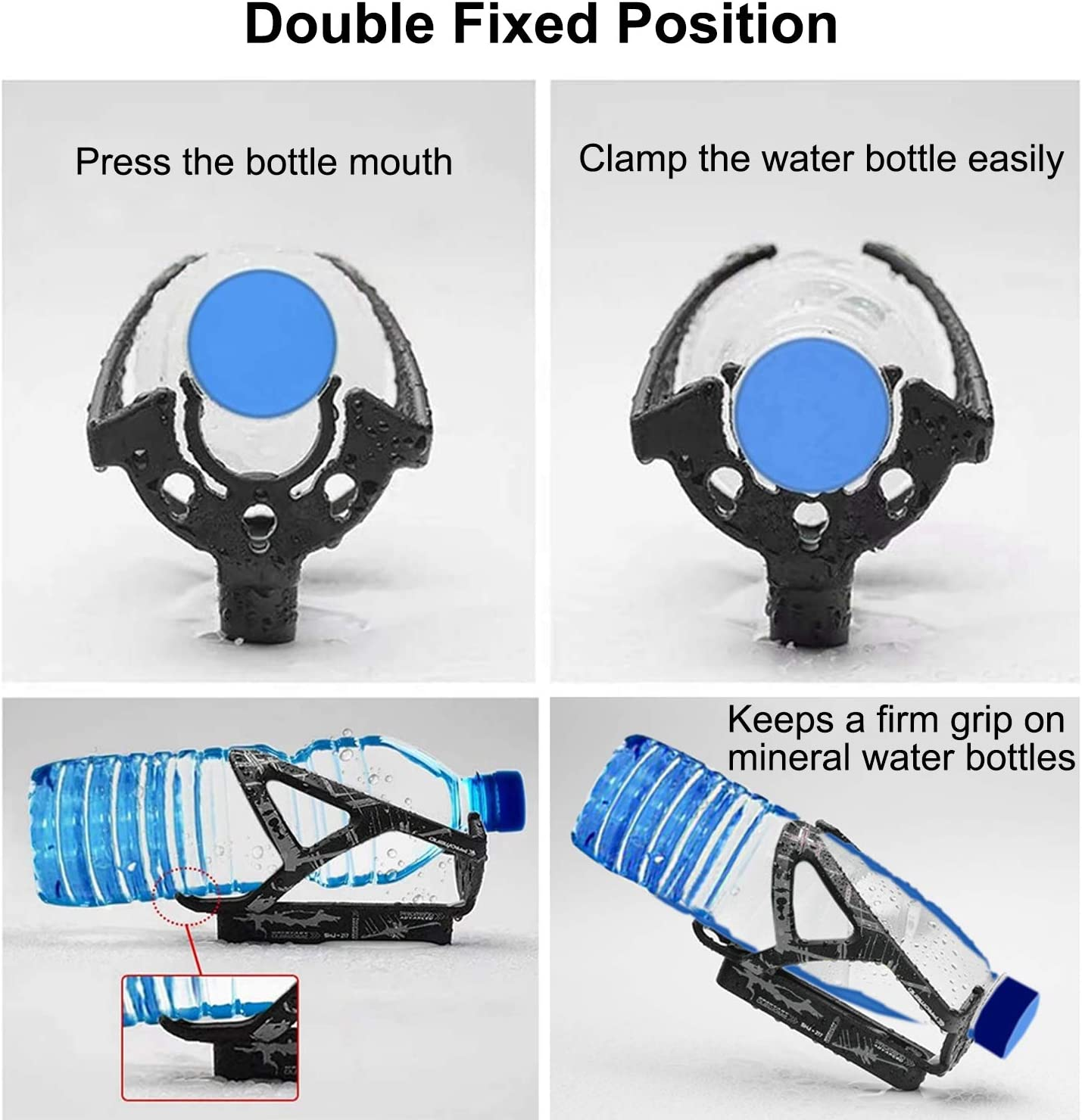 HONZUEN Mountain Bike Water Bottle Holder with Tire Lever Lightweight Water Bottle Cages for Road Bikes with Small Bottle Mouth Slot High Durability /& Flexibility Biking Bottle Cage