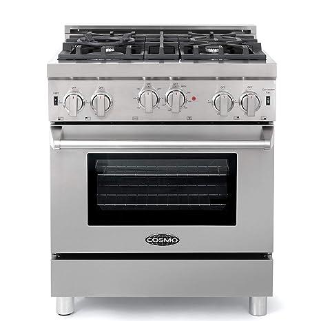 Cosmo GRP304 - Cocina de gas con 4 quemadores sellados, horno de ...