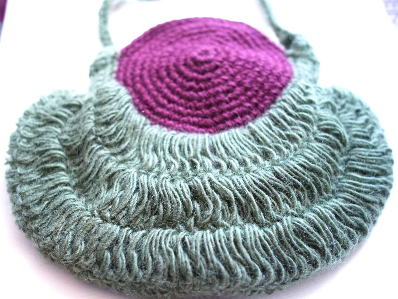 25 cm de ganchillo hecho a mano decorativos diseño de bolsas: Amazon.es: Hogar
