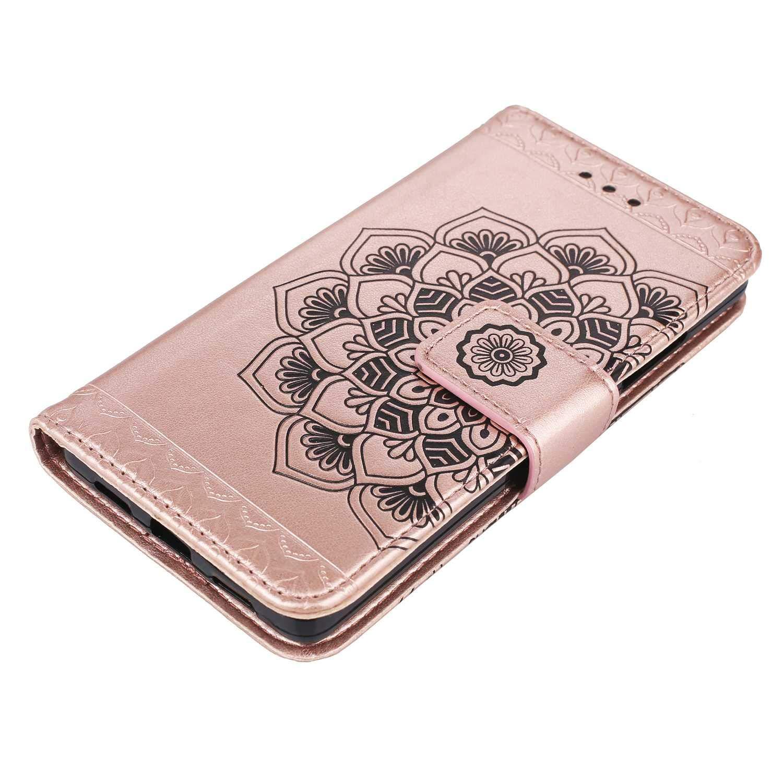 Huawei P8 Lite 2015//2016 H/ülle Gold CAXPRO/® Leder Schutzh/ülle mit Klappfunktion Magnetisch Verschluss Handyh/ülle f/ür Huawei P8 Lite 2015//2016 Kratzfestes Tasche