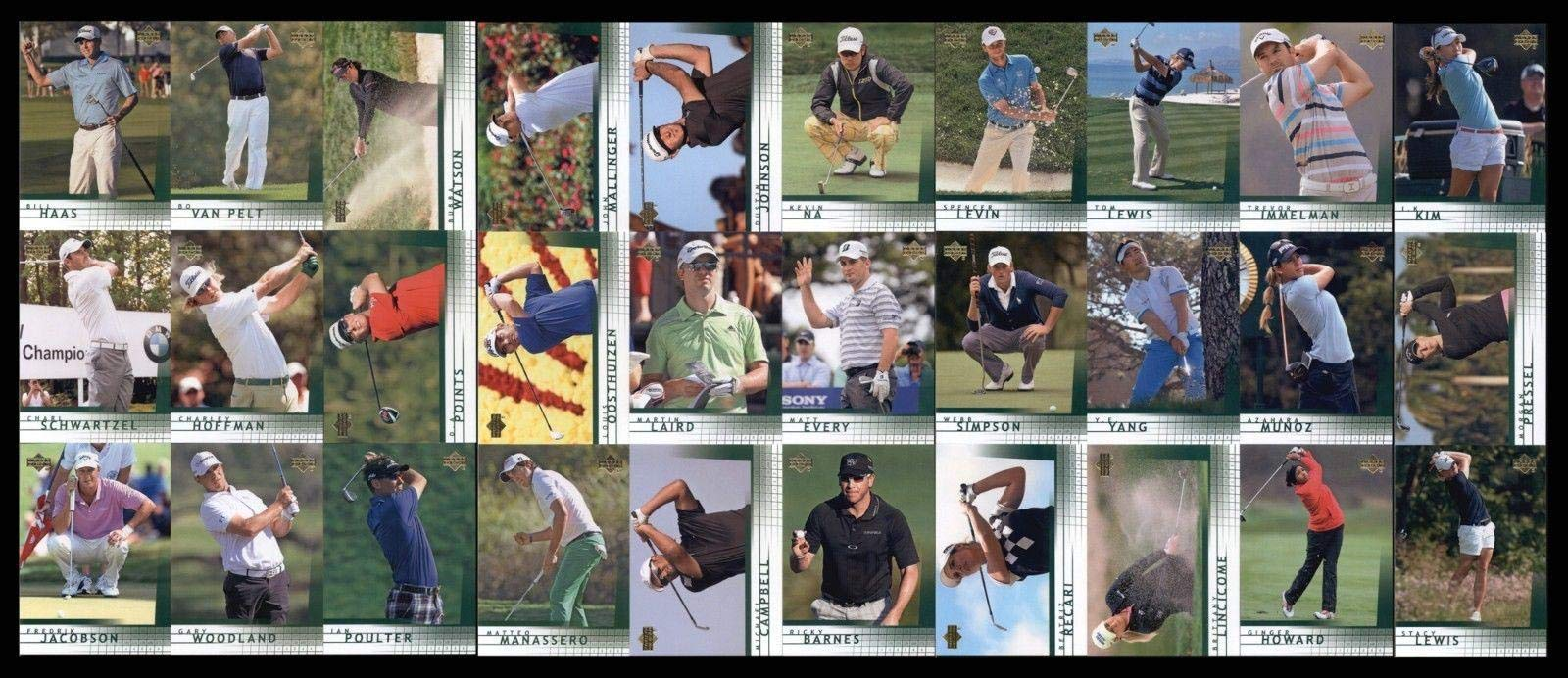 2012 Upper Deck SP Game Used Retro Rookies Golf Complete Set (1 30) Golf Tournament Used