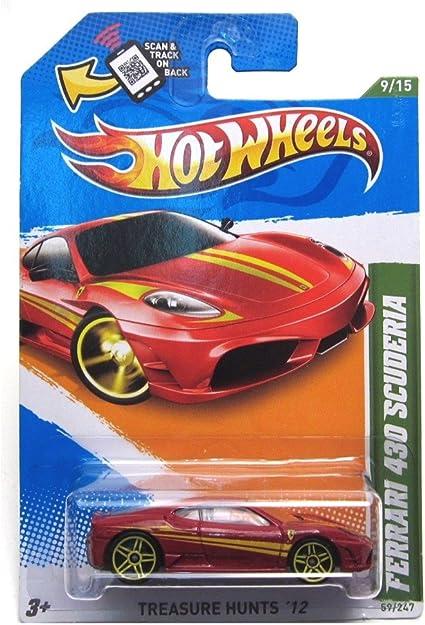 Amazon Com Hot Wheels 2012 Ferrari 430 Scuderia Car Red Treasure Hunts 59 Toys Games