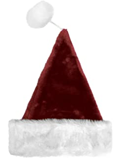 cc952a9ede7 Christmas Decor Christmas Santa Claus Hat Deluxe Plush Hat with String Pom