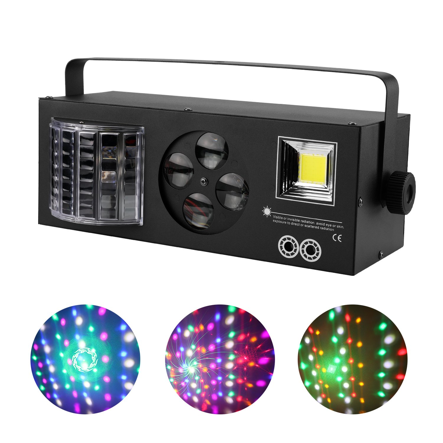 4 In 1 Mix Effect Red Green Gobos Mix Strobe Par Lamp RGBWY Beam LED DMX Rotate Light DJ Party Club Show Holiday Stage Lighting HONG YAO ZHI GUANG