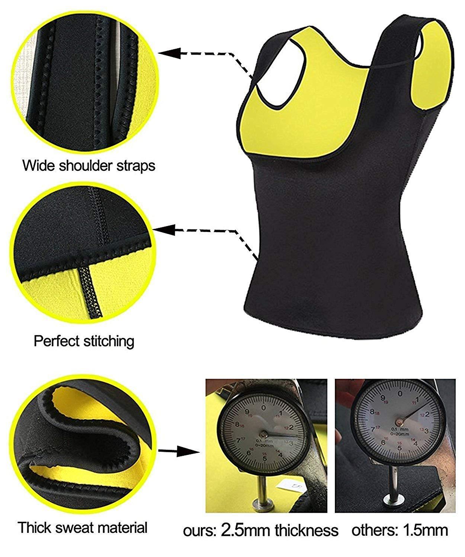Femmes N/éopr/ène Sauna Taille Formateur Corset Gilet Chaud Sweat Shirt Gilet Sauna Gilet Corps Forme pour La Perte De Poids