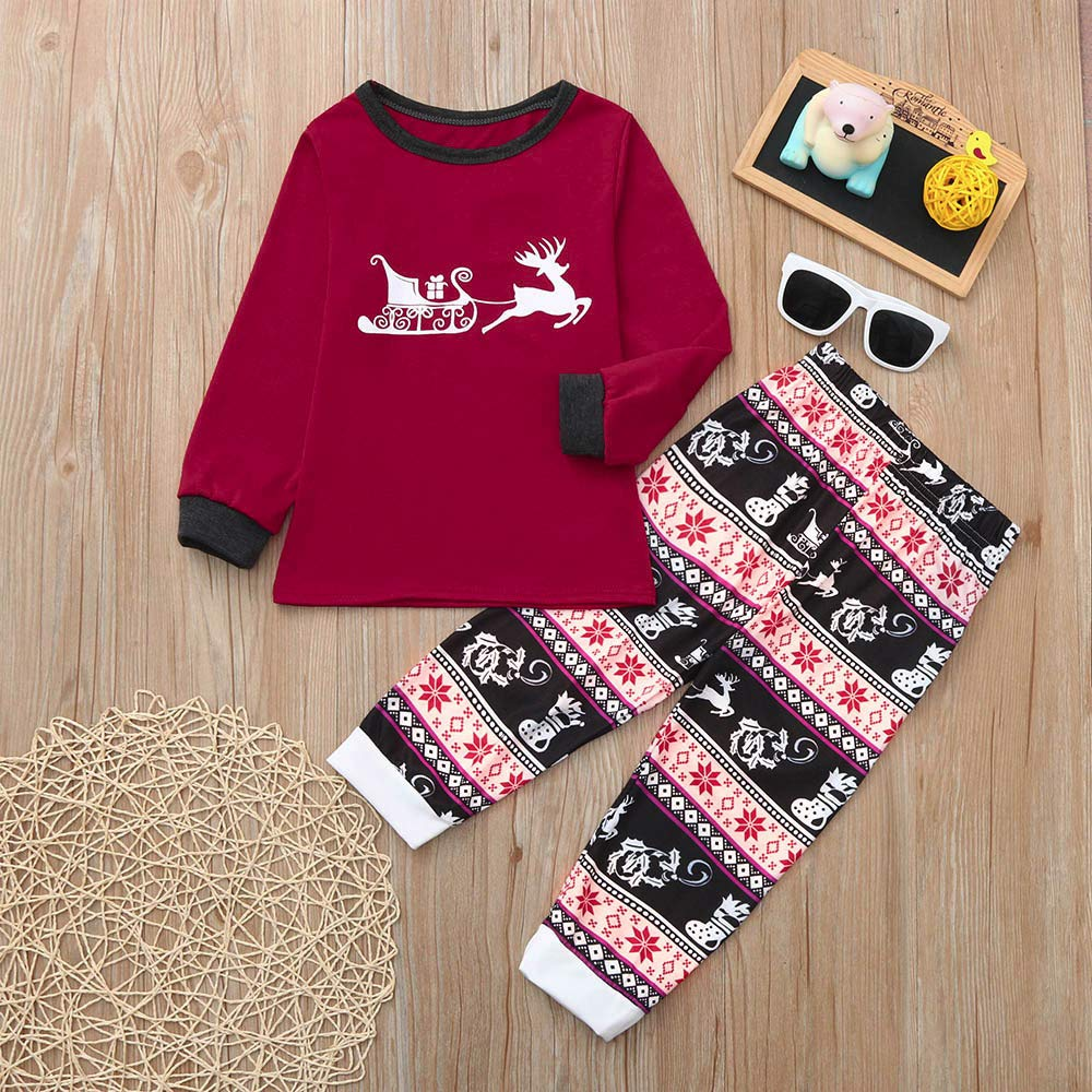 Amazon.com  GzxtLTX Christmas Family Matching Pajama Set Daddy Mommy and Me Christmas  Reindeer Sleigh Gifts Printed Sleepwear  Clothing 40ab90405