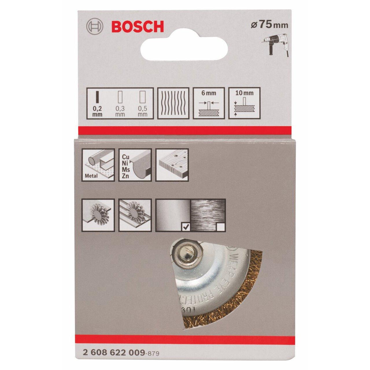 Bosch 2608622009 Brosse circulaire /à fils laitonn/és 75 mm