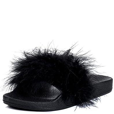 6f958f147 Flip Flop Flat Sandals Pumps Shoes Black Rubber Sz 5