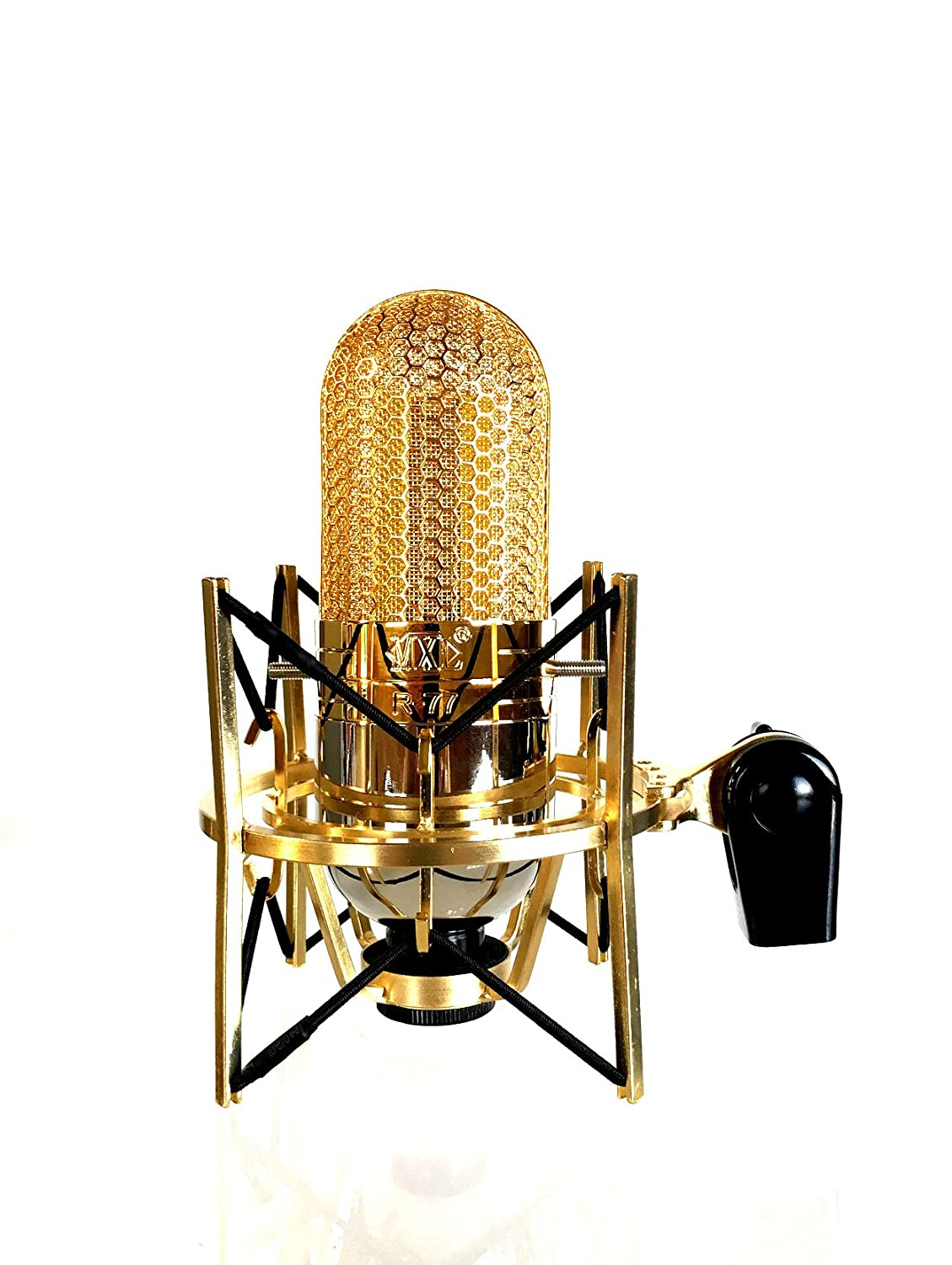 MXL R77 Classic Ribbon Microphone with Mogami XLR Cable Desktop Mic Stand and USM-001-G Shockmount