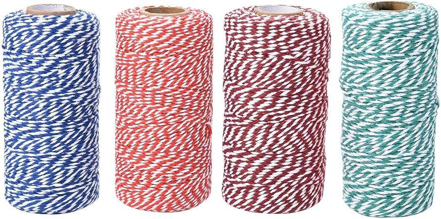 2 Rollen farbige Bakers Twine Baumwoll String für DIY Handwerk und