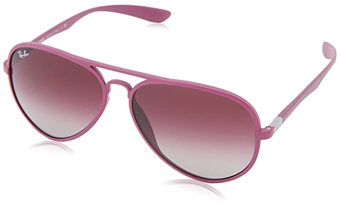 2f68c85059 Image Unavailable. Image not available for. Colour  Ray-Ban AVIATOR  LITEFORCE - METALLIZED VIOLET Frame GREY GRADIENT DARK VIOLET Lenses 58mm  Non