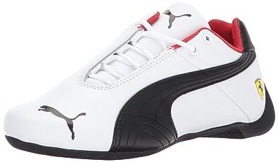 PUMA Unisex Ferrari Future Cat Kids Sneaker White Black 5ec97650e