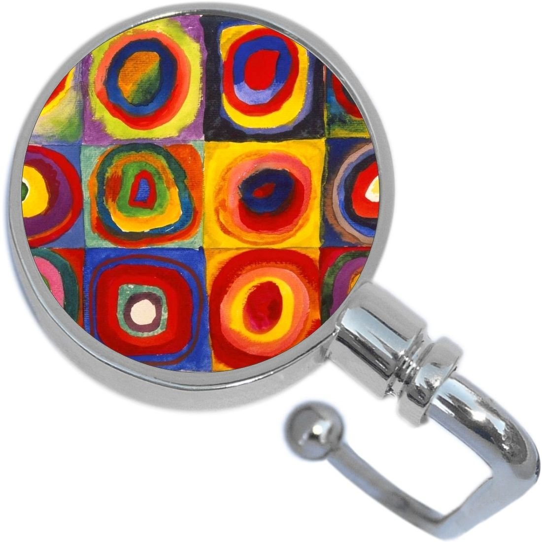 Squares with Concentric Circles Purse Hanger and Pouch