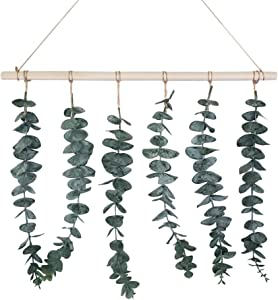 Everton Eucalyptus Wall Hanging | Artificial Plant Decor | Fake Eucalyptus Vines and Greenery | Farmhouse and Boho Home Decorations | Faux Leaves | Plants for Bedroom, Nursery, and Bathroom