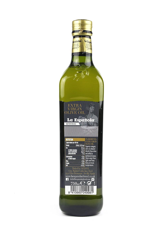 LA ESPAÑOLA - Aceite de Oliva Virgen Extra 750ml: Amazon.es ...