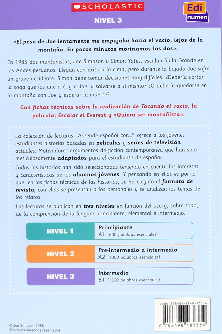 Tocando el vacío Student Book + CD (Material Complementario) (Spanish Edition) by Simpson Joe