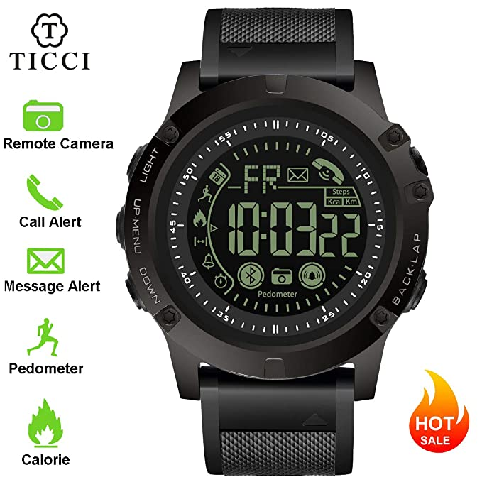 T0003 Electronic Fitness Tracker Digital Sports Bluetooth Smart Watch Waterproof Pedometer Remote Camera Incoming Call or