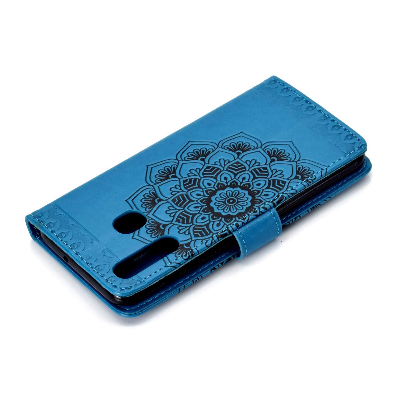 NEHHA030057 Noir NEXCURIO Coque Galaxy A20 /Étui Housse Portefeuille Magnetique Antichoc avec Fonction de Support et Coque Souple pour Samsung Galaxy A20//A30 A30 Cuir PU /à Rabat