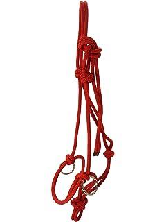 Knotenhalfter mit Ringen aus Edelstahl Halter Reiten Bodenarbeit braun