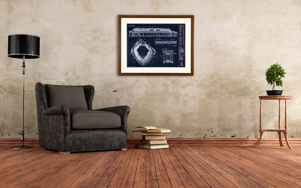 Amazon yankee stadium ballpark blueprint home kitchen malvernweather Gallery