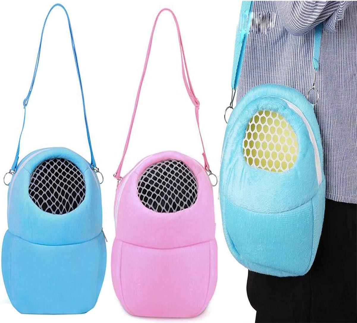 Biluer Bolsa de Transporte, 2PCS Pet Carrier Bag Hamster Carrier Hamster Travel Bag Adecuado para Transportar Ratas Hámsters Ratones Ardillas Chinchillas Erizos Y Otros Animales Similares