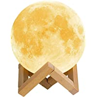 Lámpara de Luna 3D,16 Colores RGB Luz Nocturna Luna LED Lampara Luna Grande 15cm Remoto Tactil Control USB Intensidad…